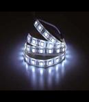 Banda led - 30 LED-uri albe Non-rezistent la apa, WH, 5W/ 12V, VT-5050 IP20