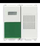 Buton de anulare comanda cu semnalizare acustica si dispersor verde