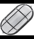 Lampa exterior cu grila 1x max100W, E27/IP54/ Negru, TG-3201.05