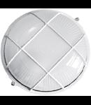 Lampa exterior cu grila 1x max100W, E27/IP54/ Alb, TG-3201.08