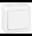 Intrerupator simplu, 10 AX - 250 VA, IP44, alb