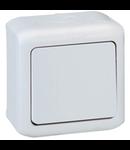 Intrerupator simplu, 10 AX - 250 VA, IP44, gri
