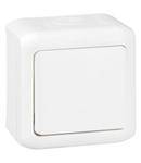 Intrerupator cap scara, 10 AX - 250 VA, IP44, alb