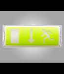 Corp de iluminat de siguranta cu LED-uri, 356 x 136 x 84 mm, 4W, + kit emergenta