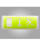 Corp de iluminat de siguranta cu LED-uri, 356 x 136 x 84 mm, 8W, 24V c.a, ELECTROMAGNETICA