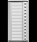 Panou exterior tip buton, pentru 12 familii, 244mm