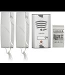 KIT VILA AUDIO 4+N fire, set telefoane uz casnic, 2 receptoare, 1 buton