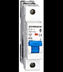 Intreruptor automat modular MCB, AMPARO 6kA, C 2A, 1-pol