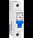 Intreruptor automat modular MCB, AMPARO 6kA, C 25A, 1-pol