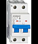 Intreruptor automat modular MCB, AMPARO 6kA, C 13A, 1P+N