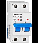 Intreruptor automat modular MCB, AMPARO 6kA, C 16A, 1P+N
