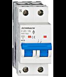Intreruptor automat modular MCB, AMPARO 6kA, C 20A, 1P+N