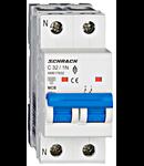 Intreruptor automat modular MCB, AMPARO 6kA, C 32A, 1P+N