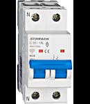 Intreruptor automat modular MCB, AMPARO 6kA, C 50A, 1P+N