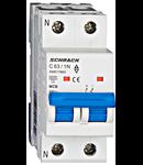 Intreruptor automat modular MCB, AMPARO 6kA, C 63A, 1P+N
