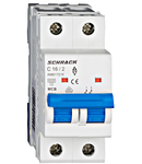 Intrerupator automat bipolar MCB, AMPARO 6kA, C 16A, 2P