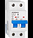 Intrerupator automat bipolar MCB, AMPARO 6kA, C 20A, 2P