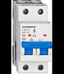 Intrerupator automat bipolar MCB, AMPARO 6kA, C 40A, 2P