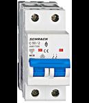 Intrerupator automat bipolar MCB, AMPARO 6kA, C 50A, 2P