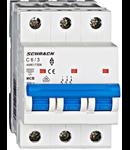 Intrerupator automat tripolar MCB, AMPARO 6kA, C 6A, 3P