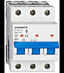 Intrerupator automat tripolar MCB, AMPARO 6kA, C 10A, 3P