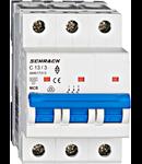 Intrerupator automat tripolar MCB, AMPARO 6kA, C 13A, 3P