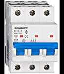Intrerupator automat tripolar MCB, AMPARO 6kA, C 16A, 3P