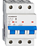 Intrerupator automat tripolar MCB, AMPARO 6kA, C 20A, 3P