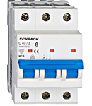 Intrerupator automat tripolar MCB, AMPARO 6kA, C 40A,  3P