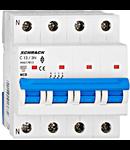 Intrerupator automat tetrapolar MCB, AMPARO 6kA, C 13A, 3P+N