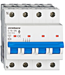 Intrerupator automat tetrapolar MCB, AMPARO 6kA, C 16A, 3P+N