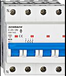 Intrerupator automat tetrapolar MCB, AMPARO 6kA, C 25A, 3P+N
