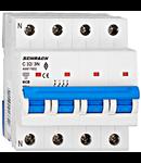 Intrerupator automat tetrapolar MCB, AMPARO 6kA, C 32A, 3P+N