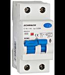 Intrerupator automat+ diferential 1P+N, AMPARO 6kA, C 10A, 30mA, tip A