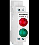 Lampa modulara dubla cu LED, AMPARO, rosu/verde, 230V-AC