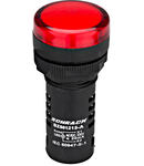 Lampa de semnalizare cu LED, monobloc, 230V-AC, rosu
