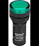 Lampa de semnalizare cu LED, monobloc, 230V-AC, verde