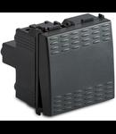 Intrerupator 1P 16AX 250V~, 2 module, gri
