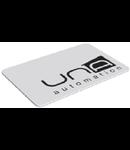 Card tip insigna pentru DIFRA, alb