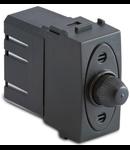 Dimmer  pentru sarcina rezistiva cu buton comutator, compatibil cu filtru RFI,  100-500W/230V~ AC, gri
