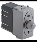 Dimmer pentru sarcina rezistiva cu buton comutator, compatibil cu filtru RFI, 100-500W/230V~ AC, argintiu