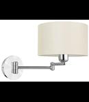 Lampa perete HALVA aluminium, chrome 220-240V,50/60Hz IP20