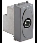 Priza TV satelit coaxiala IEC directa cu fluxul de curent, tata 5-2400Mhz , argintie