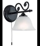 Lampa perete MURCIA negru 220-240V,50/60Hz IP20