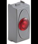 Priza cu lampa lumina rosie de usa, 1modul, 220V, argintie