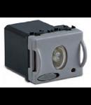 Lampa lumina de urgenta cu comutator, 2 module detasabile, 120' autonomie, luminozitate 16CD, 230V~ , argintie