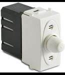 Dimmer pentru sarcina rezistiva cu buton comutator, compatibil cu filtru RFI, 100-500W/230V~ AC, alb