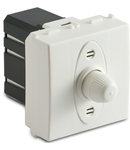 Dimmer pentru sarcina rezistiva, 2 module, cu buton comutator, compatibile cu filtru RFI, 100-500W/230V~ AC, alb
