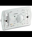 Termostat electronic de camera, 3 module, incastrat, cu dispozitiv de cuplare si baterie, alb