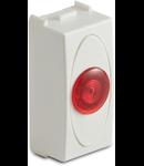 Priza cu lampa lumina rosie de usa, 1modul, 220V, alba